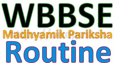 WBBSE Routine 2019