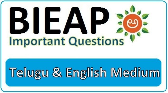 BIEAP 1st and 2nd Inter Important Questions 2021