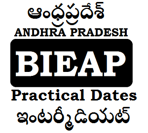 AP Inter Practical Dates 2019