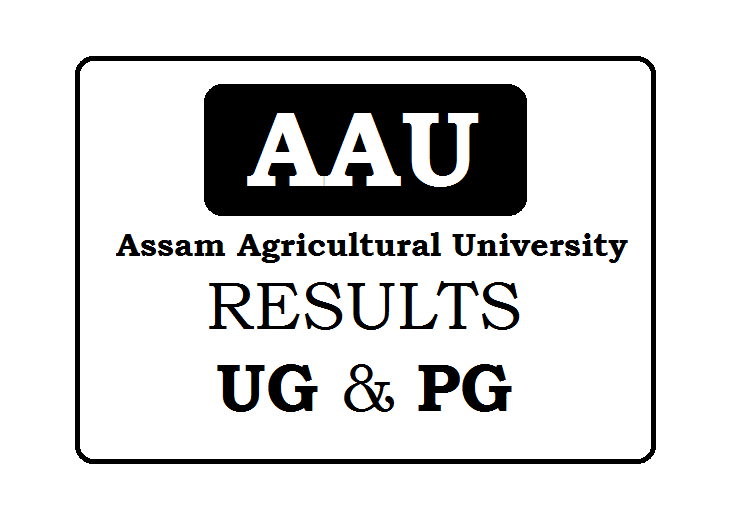 Assam Agricultural University Result for UG & PG