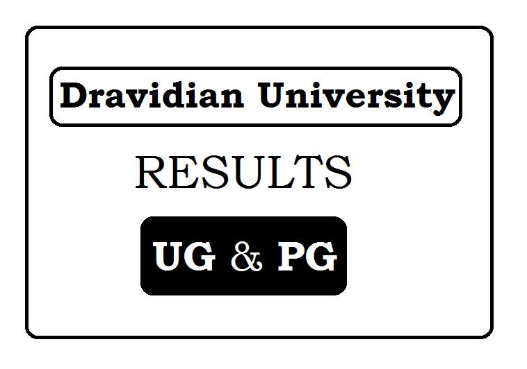 Dravidian University Results 2021
