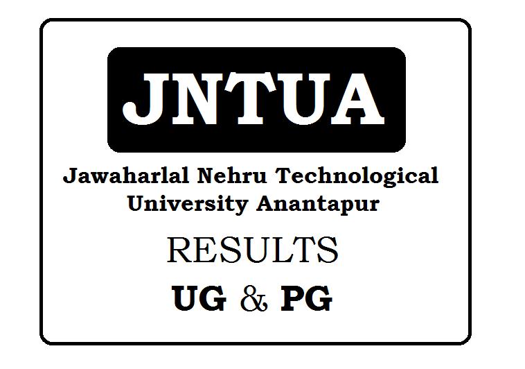 JNTU Anantapur Results 2020