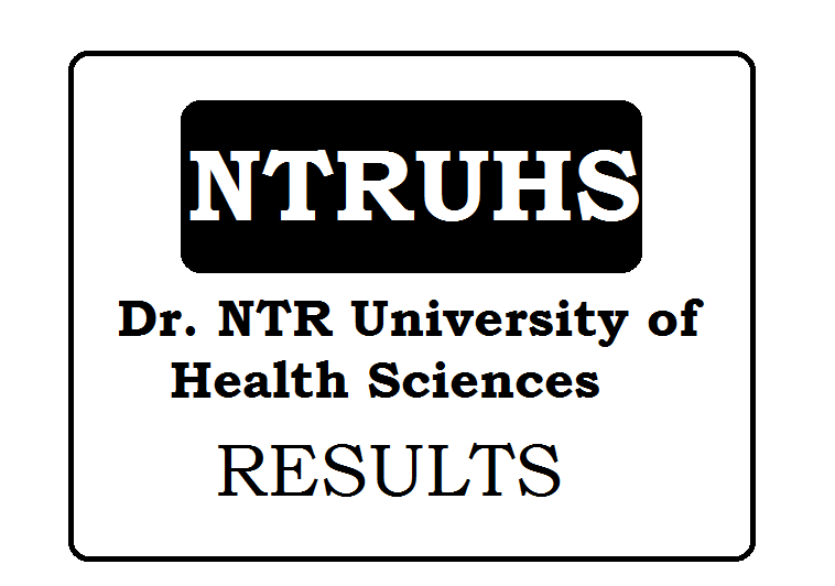 Dr. NTR University of Health Sciences Results 2021