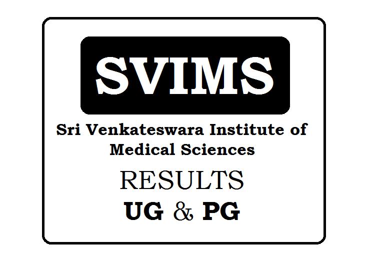 Sri Venkateswara Institute of Medical Sciences Results