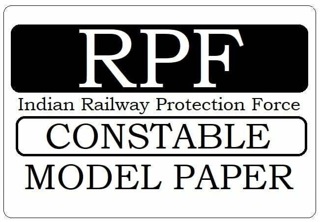 RPF Constable Model Paper 2020