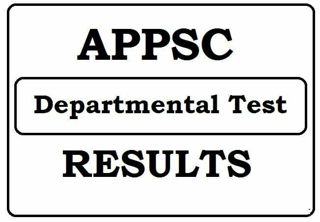 APPSC Departmental Test Results 2021