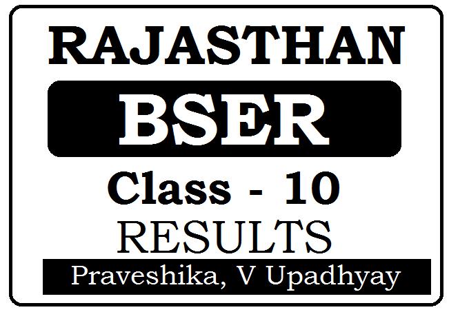 BSER 10th Result 2022 for Praveshika, V Upadhyay