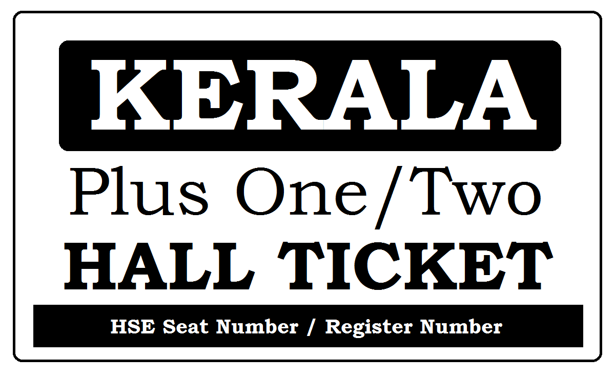 Kerala HSE Hall Ticket 2021