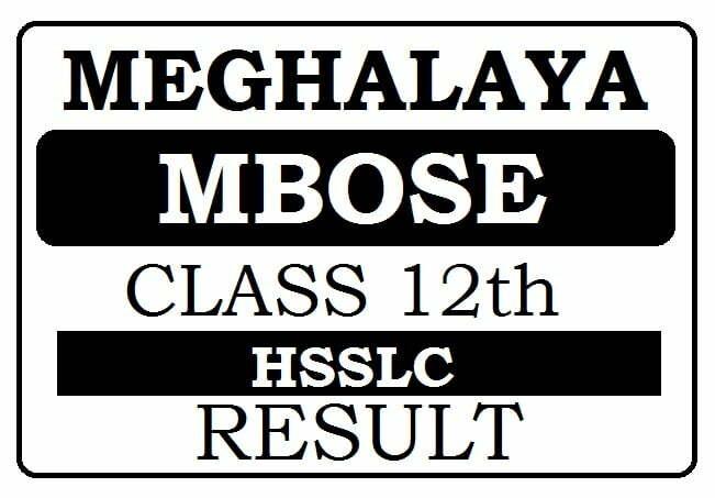 Meghalaya 12th Results 2021