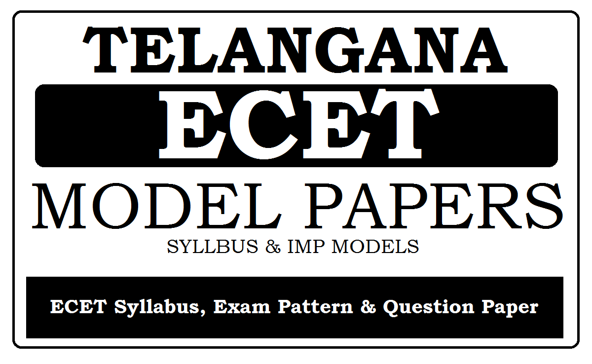 Telangana ECET Syllabus & Model Papers 2021