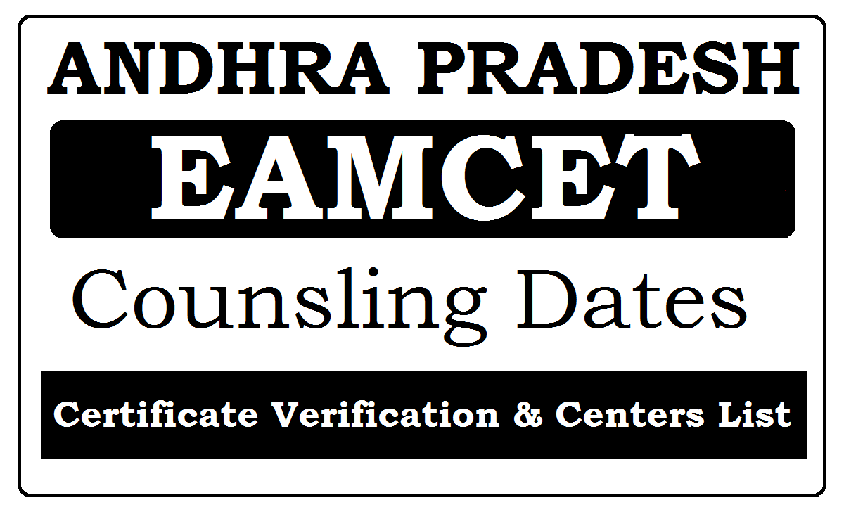 AP Eamcet Counselling Dates 2020