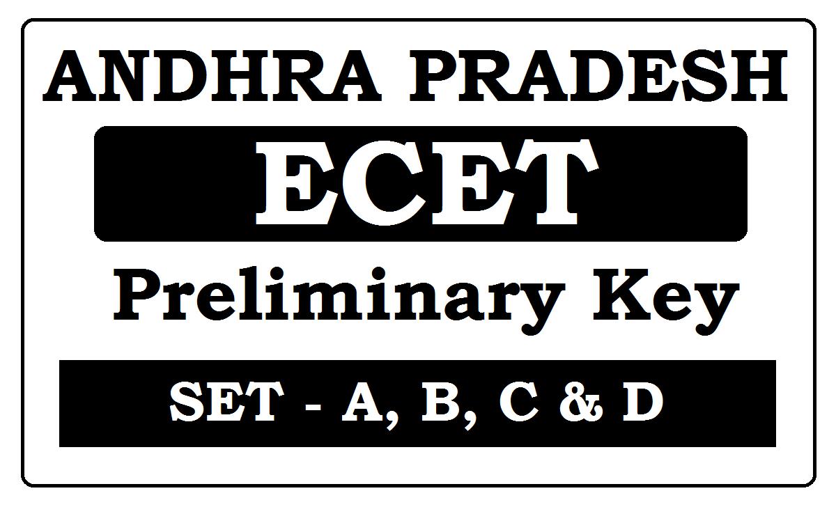 AP ECET Preliminary Key 2020 Download