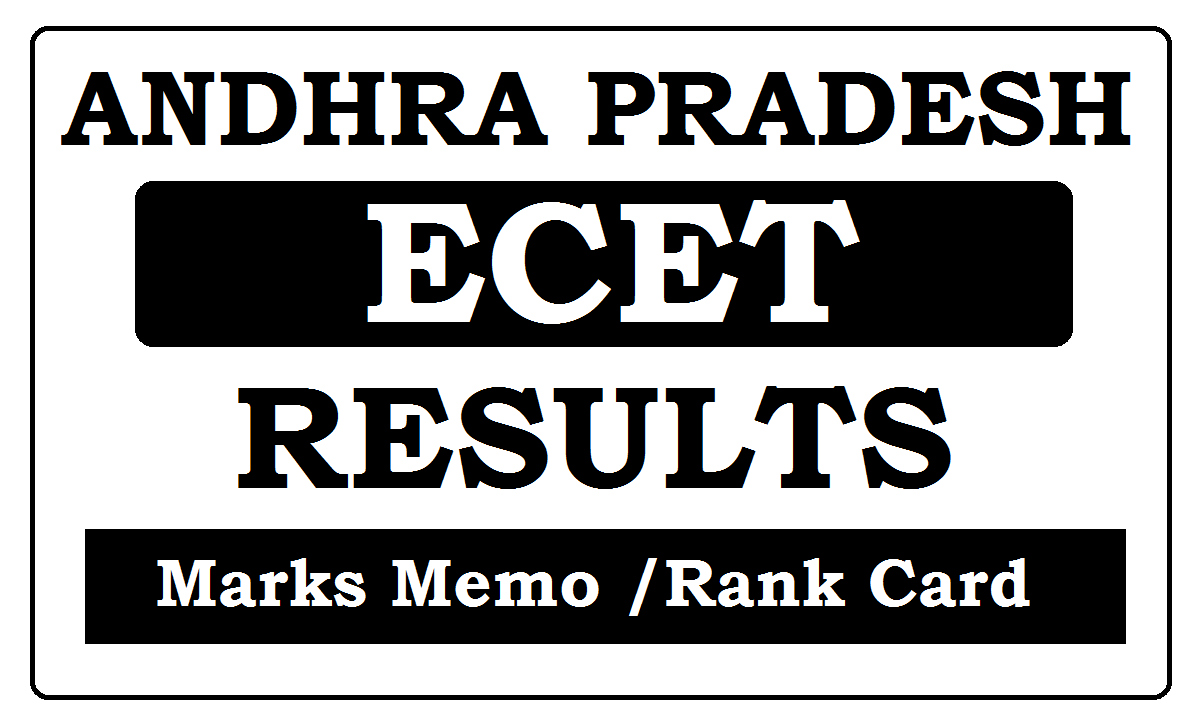 AP ECET Results 2021 and Rank Card