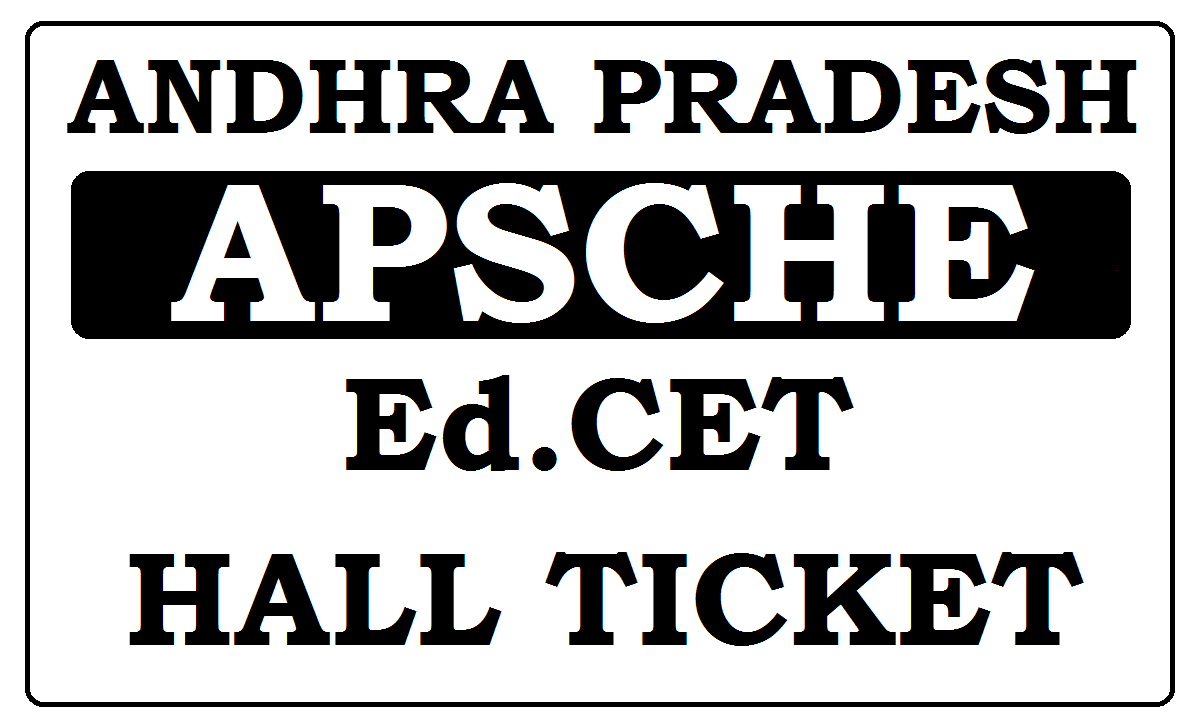 AP Ed.CET Hall Ticket 2021