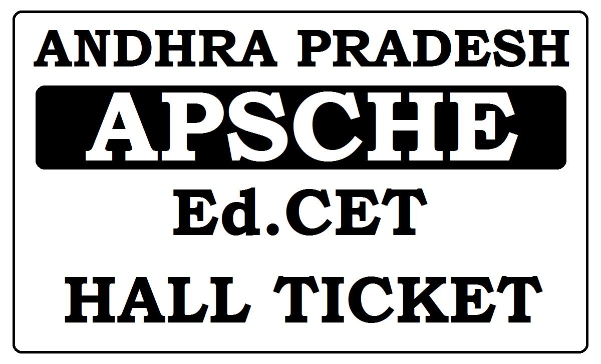 AP Ed.CET Hall Ticket 2021