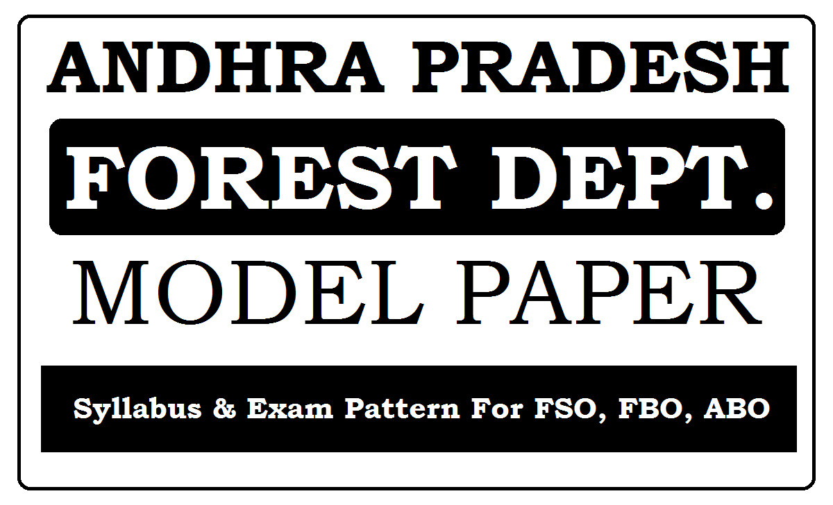 AP Forest Department Model Paper 2021