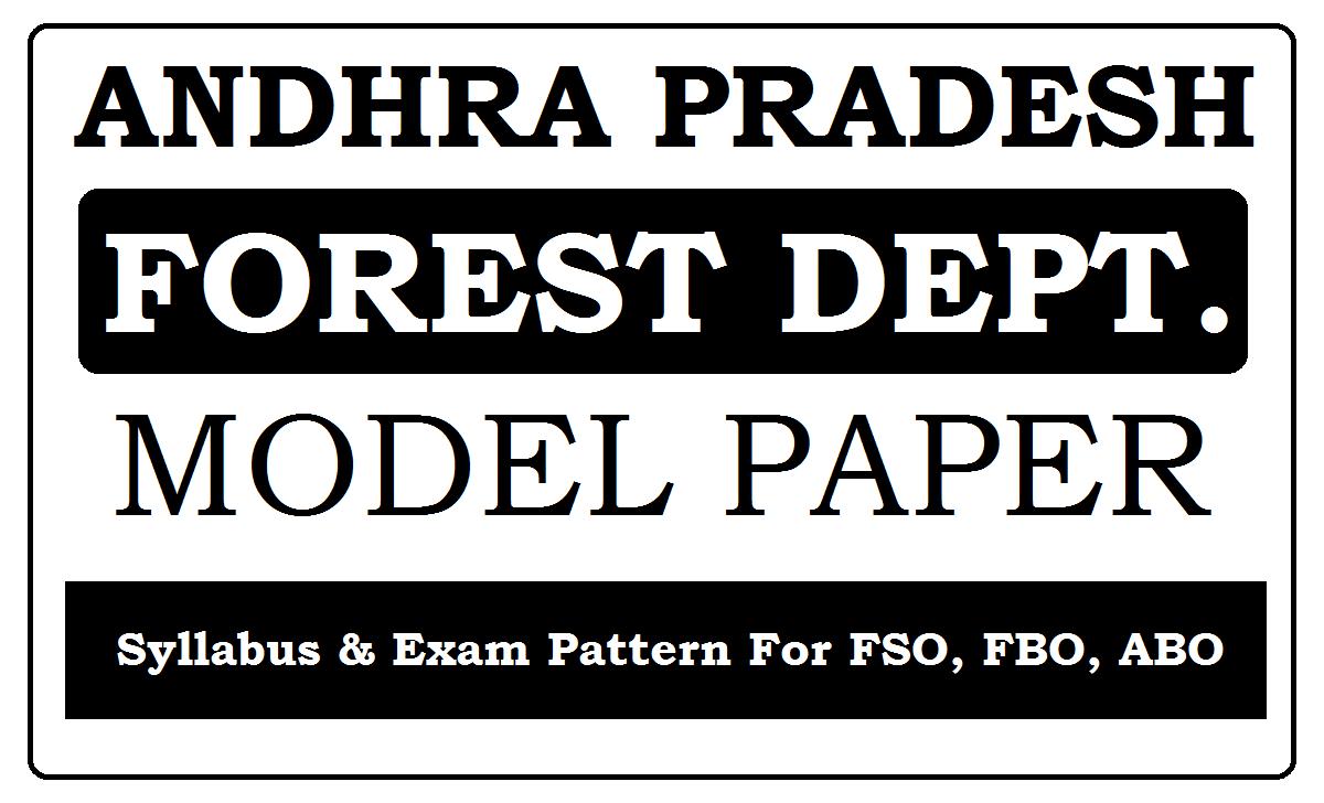 AP Forest Department Model Paper 2021