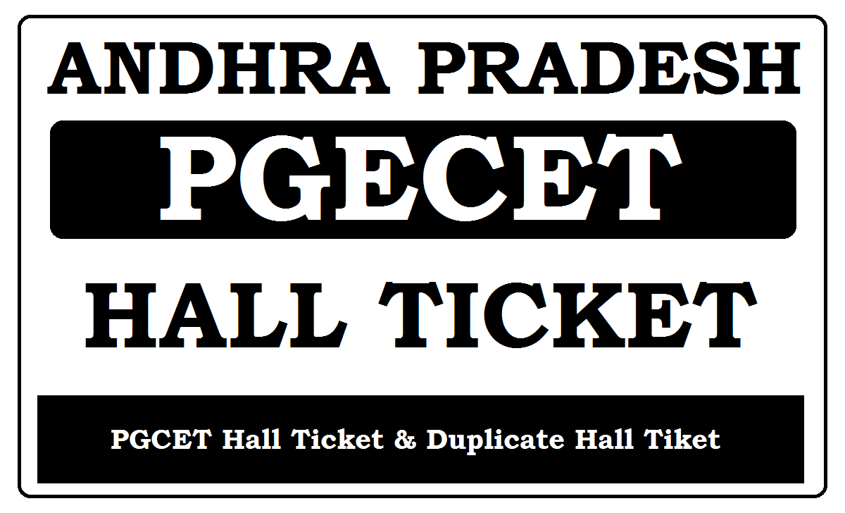 AP PGECET Hall Ticket 2021