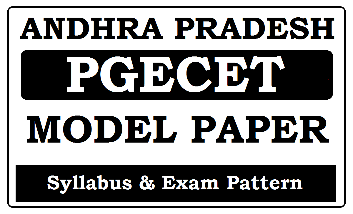 AP PGECET Model Papers 2020