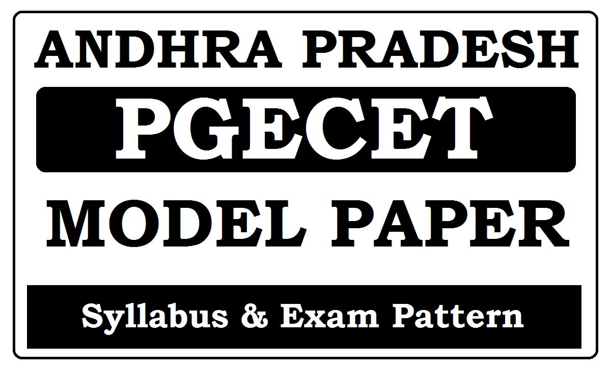 AP PGECET Model Papers 2022