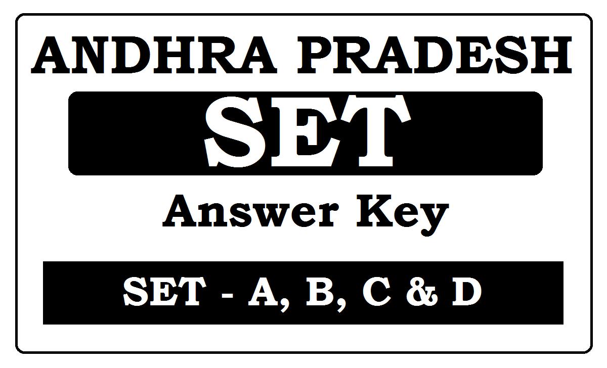 AP SET Answer Key 2021