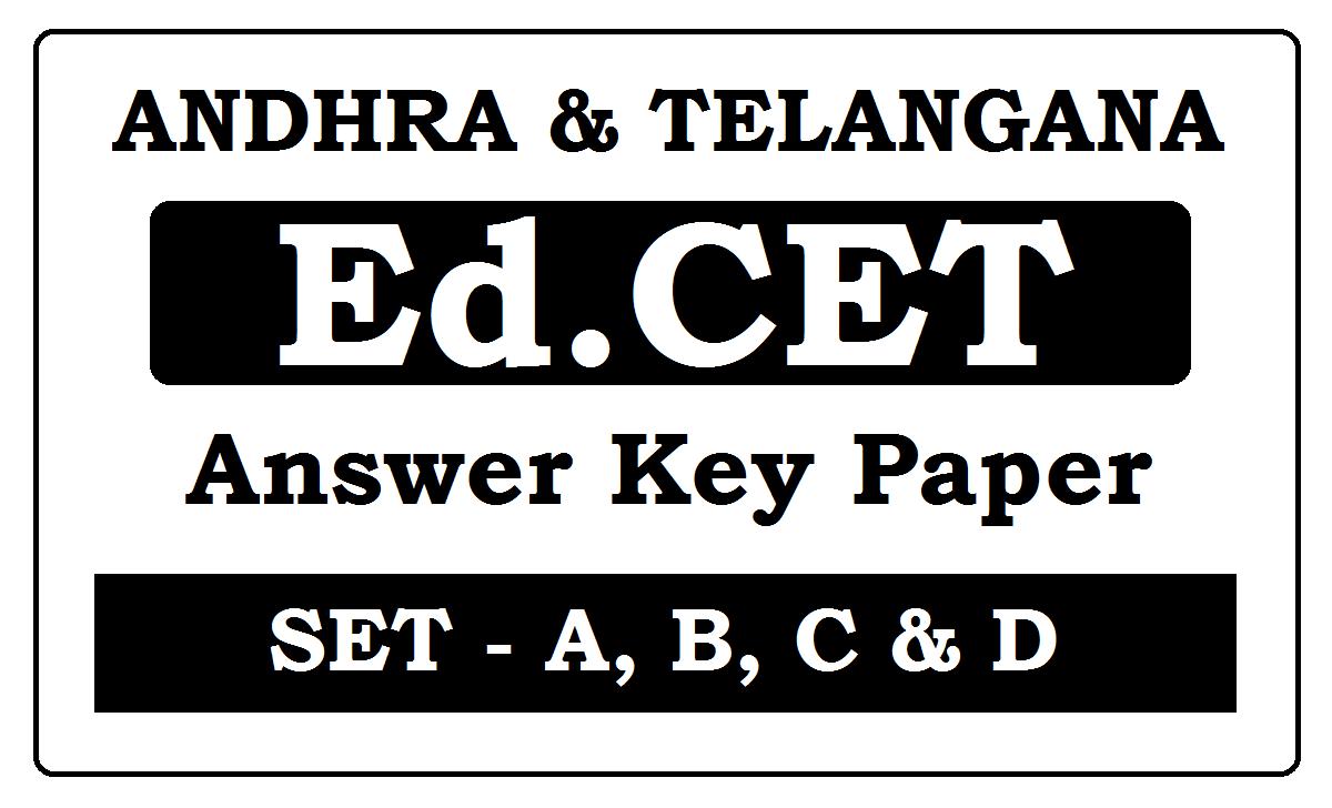 Ed.CET Answer Key 2020