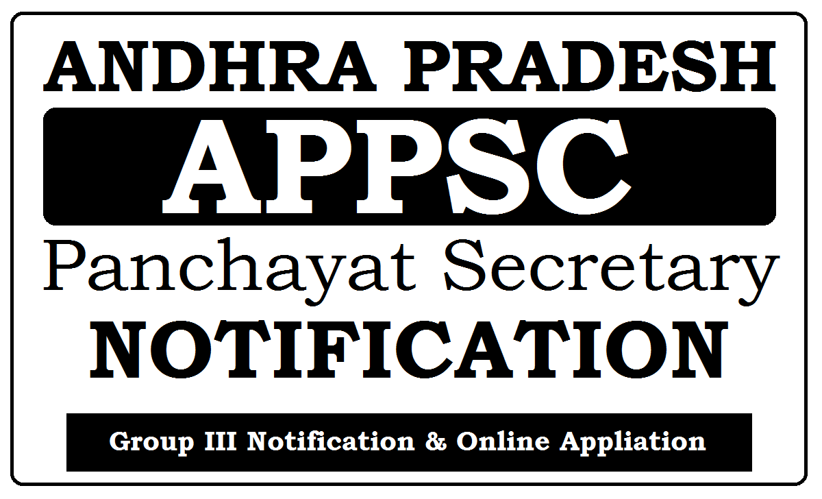APPSC Group-3 Notification 2021