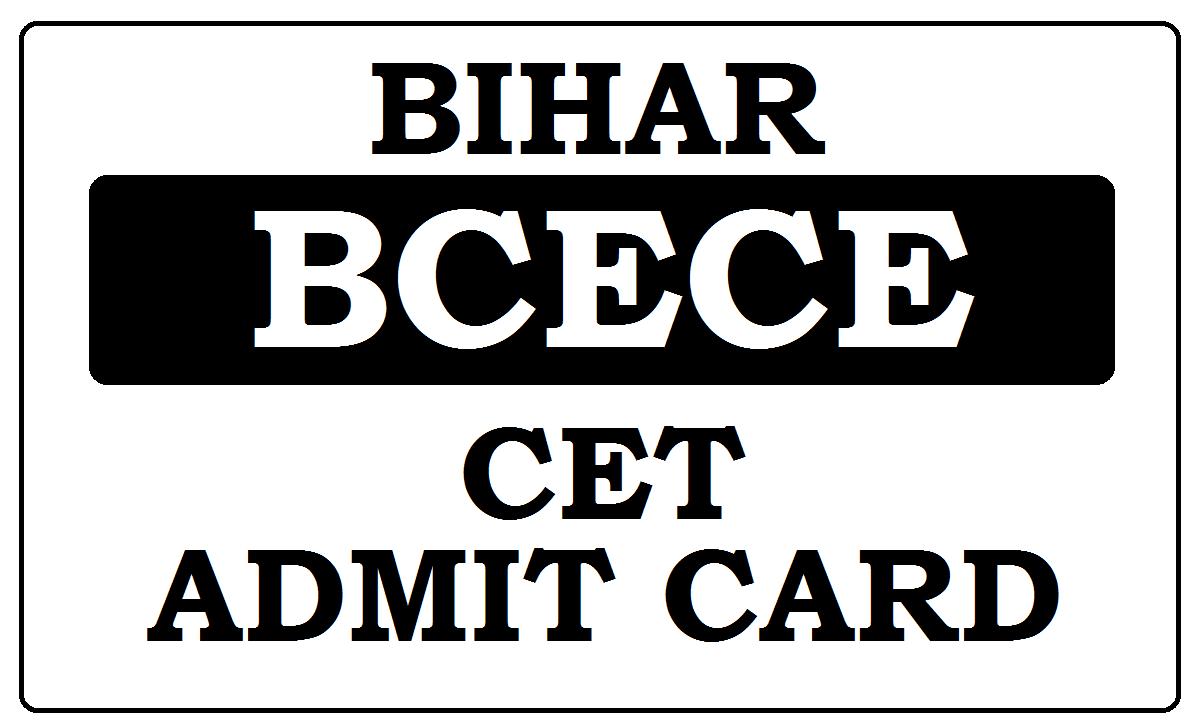 Bihar CET Admit Card 2020