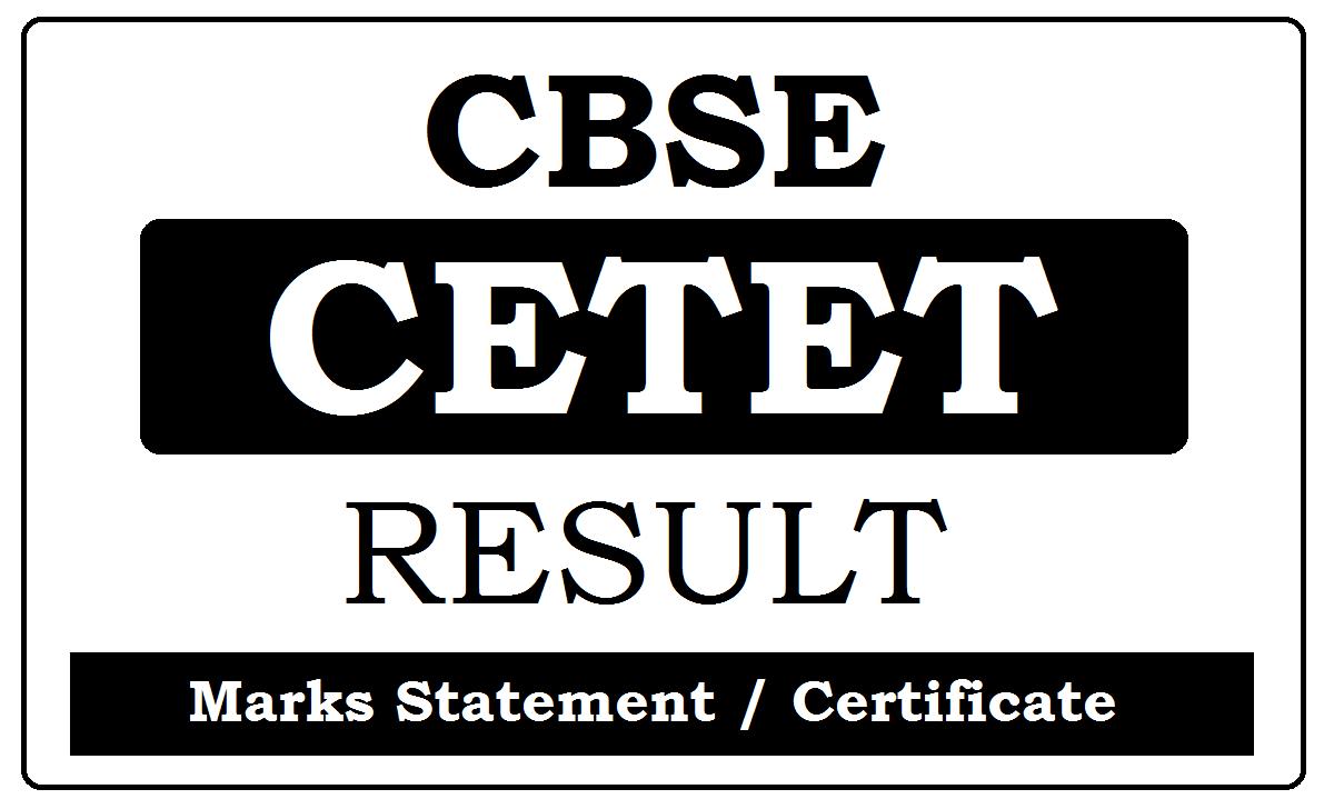 CBSE CTET September Result 2022