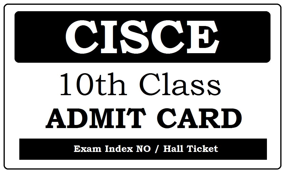 ICSE Admit Card 2020