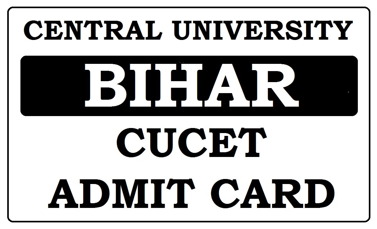 CUCET Hall Ticket 2021