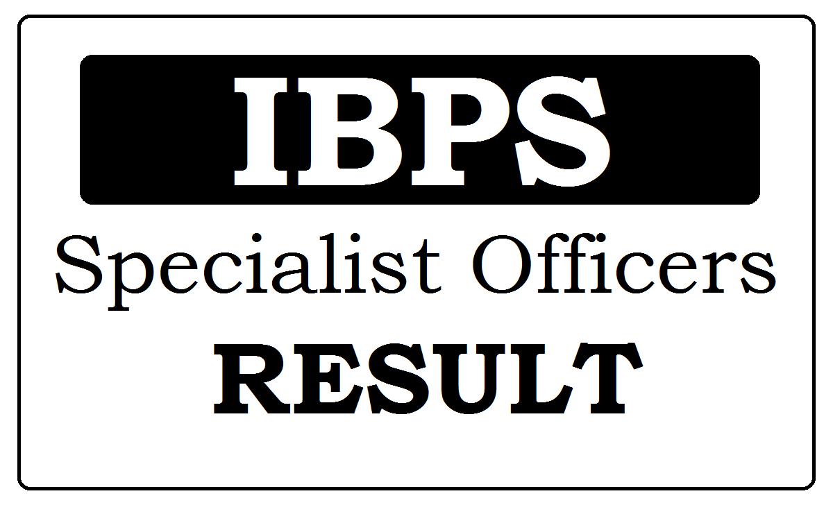 IBPS SO Results 2021