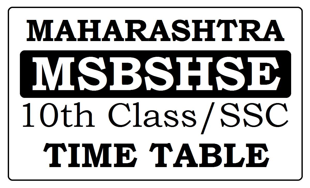 Maharashtra SSC Date Sheet 2021