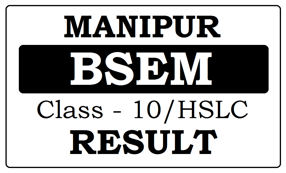 Manipur 10th Result 2020