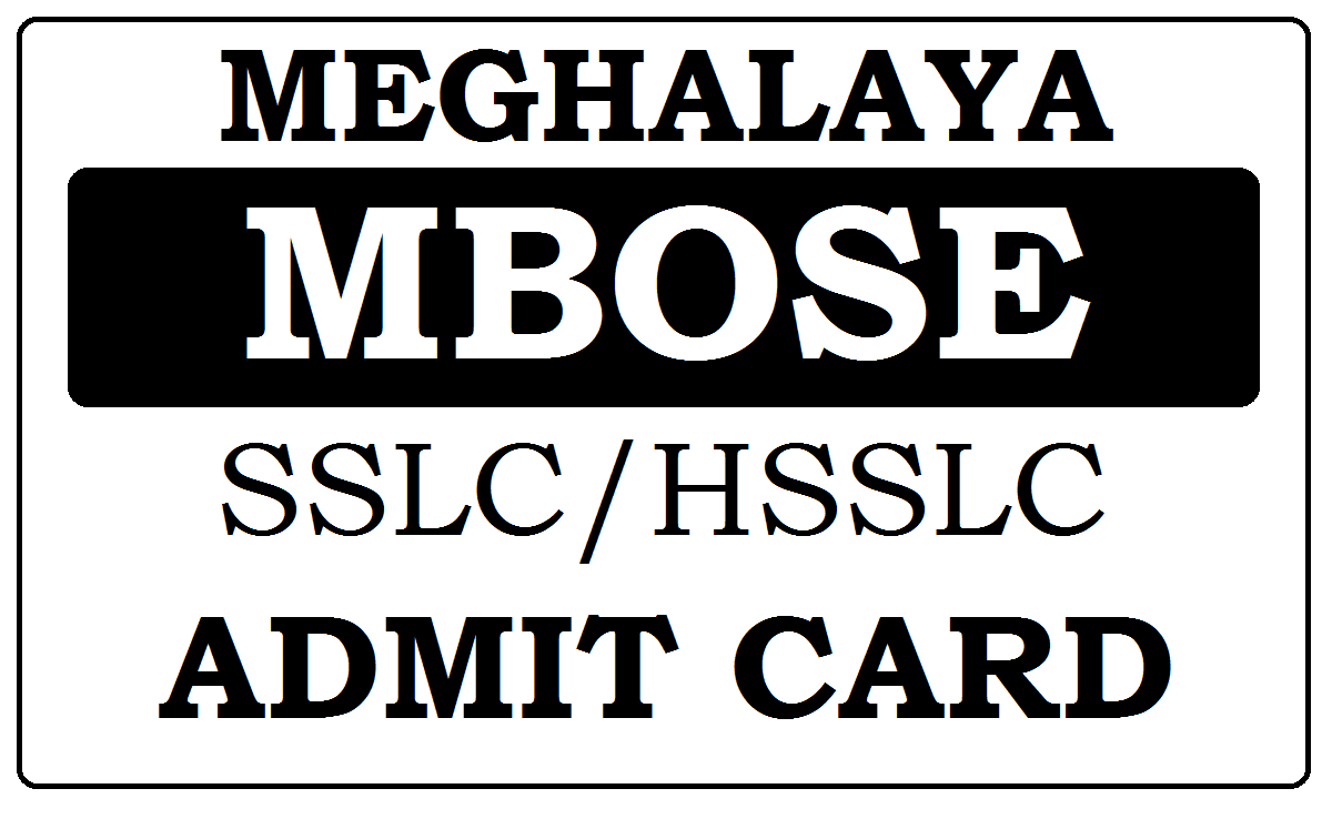 MBOSE SSLC / HSSLC Admit Card 2020