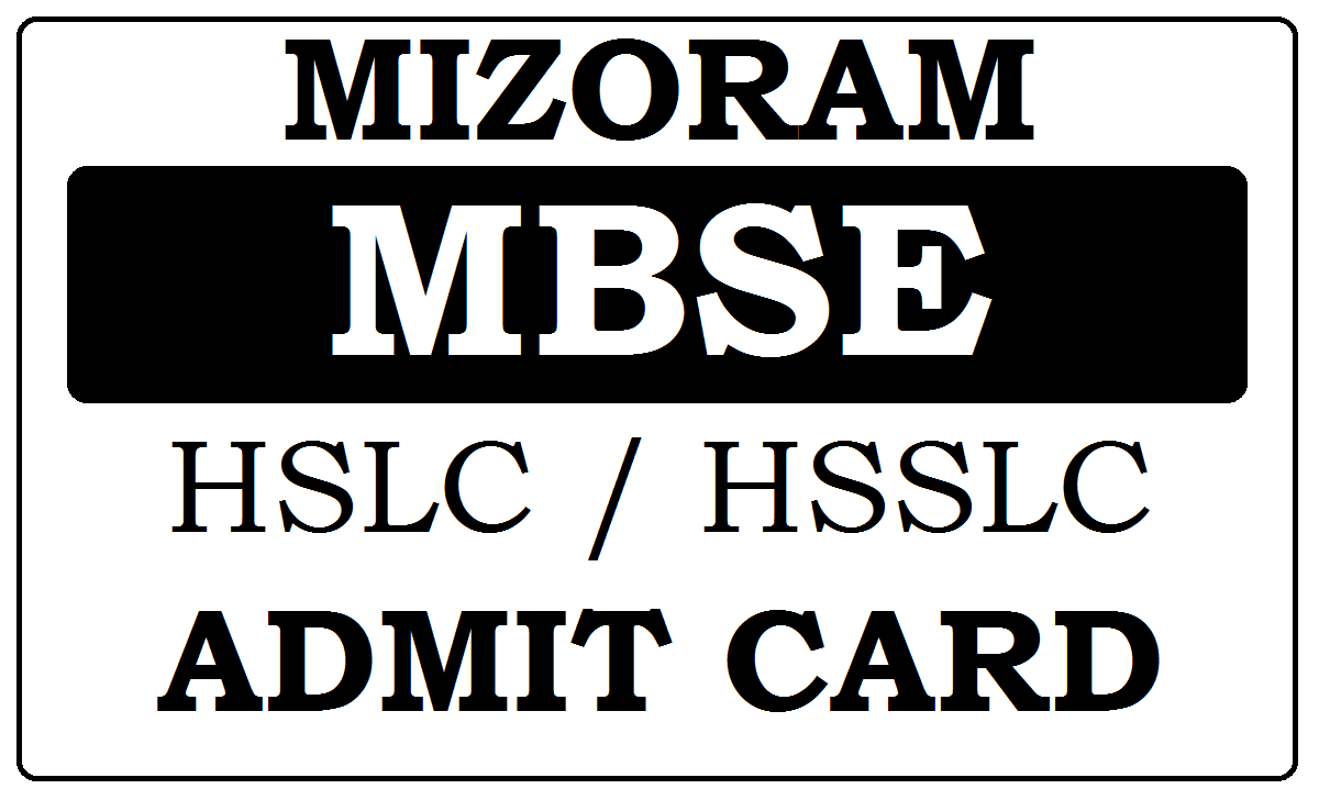 Mizo Board HSLC / HSSLC Roll Number 2021