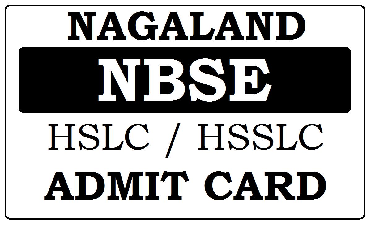 Nagaland HSLC/HSSLC Admit Card 2021