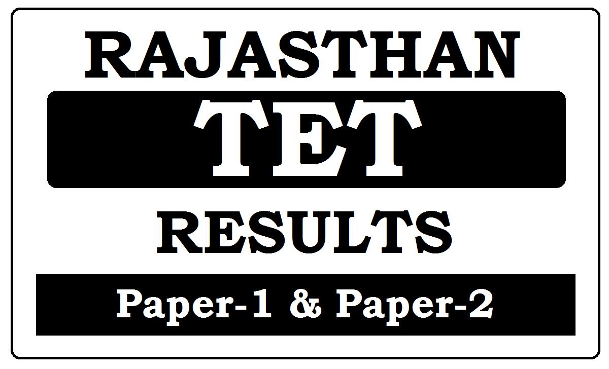 Rajasthan TET Results 202