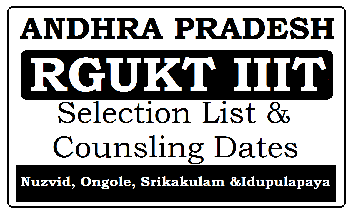 AP RGUKT IIIT Selected list 2020