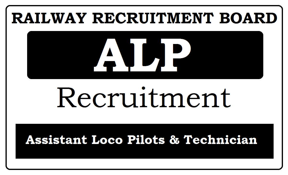 RRB ALP Recruitment 2020