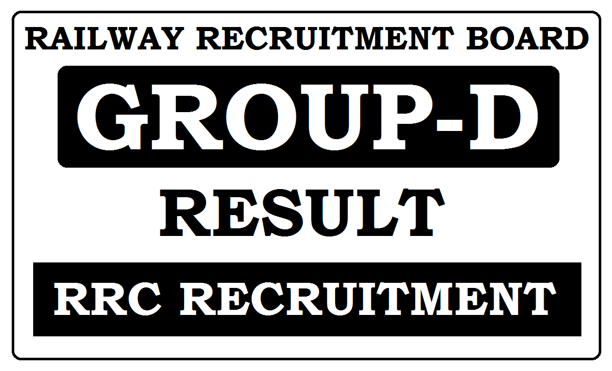 RRB Group-D Results 2020