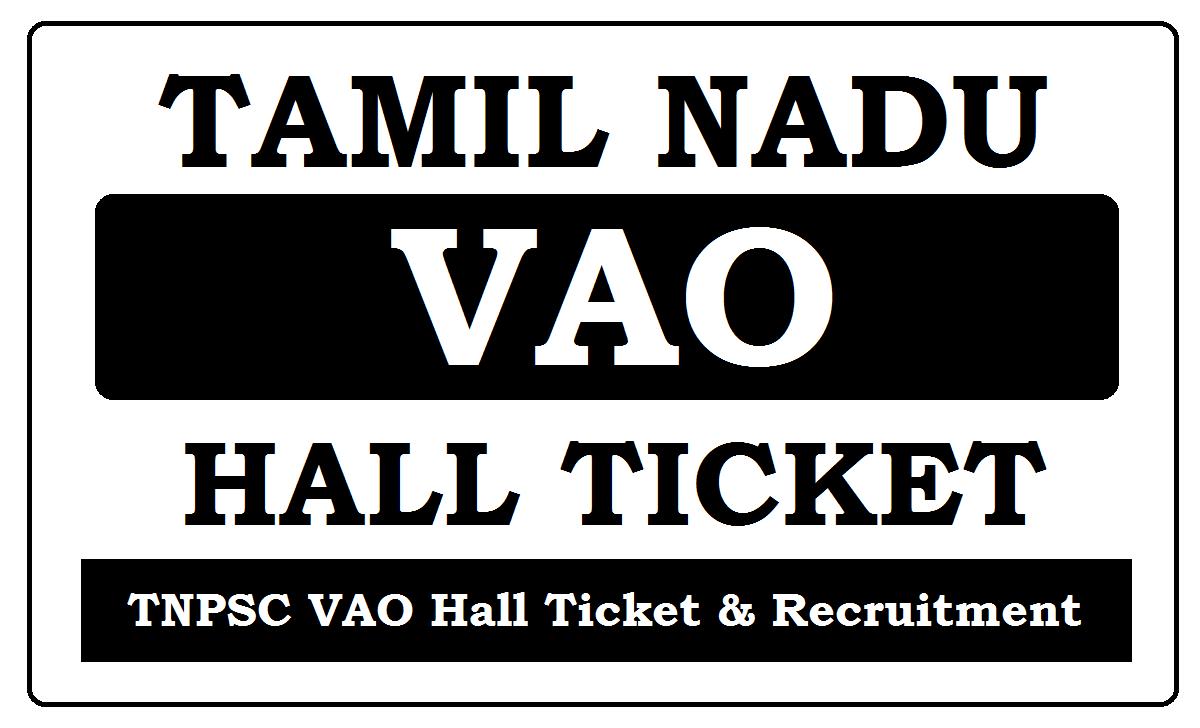 TN VAO Hall Ticket 2021
