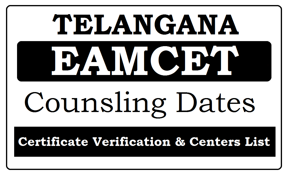 TS EAMCET Counselling Dates 2021