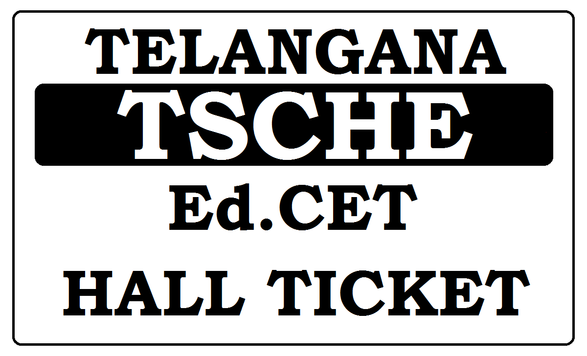 TS Ed.CET Hall Ticket 2021