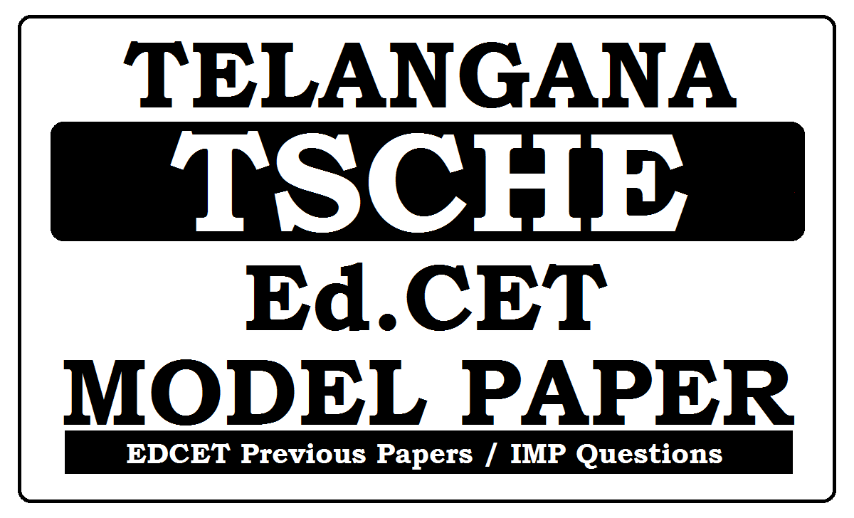 Telangana EDCET Model Papers 2020