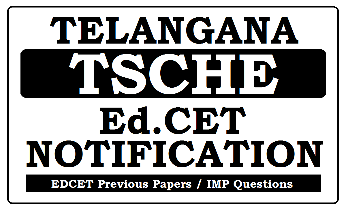 Telangana Ed.CET Notification 2021