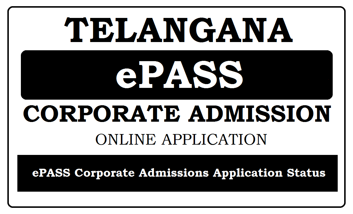TS ePass Corporate Colleges Admission Online Application 2020