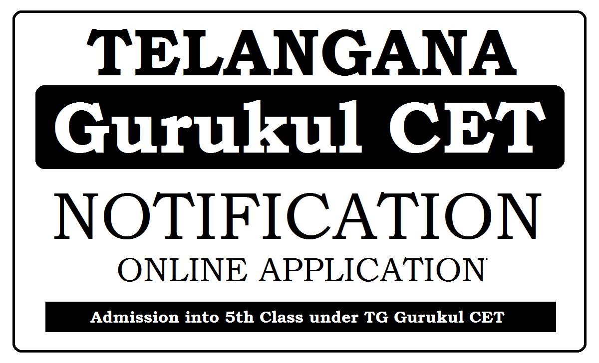 TG Gurukul CET 2021 Apply Online