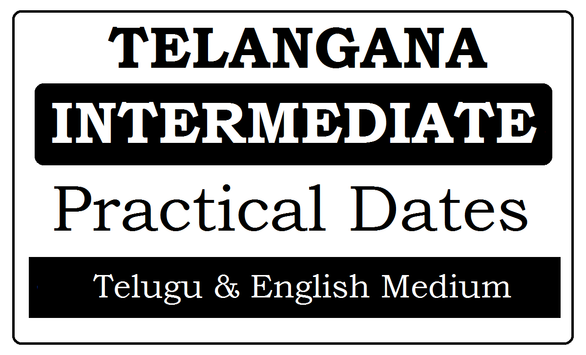 TS Inter Practical Dates 2020