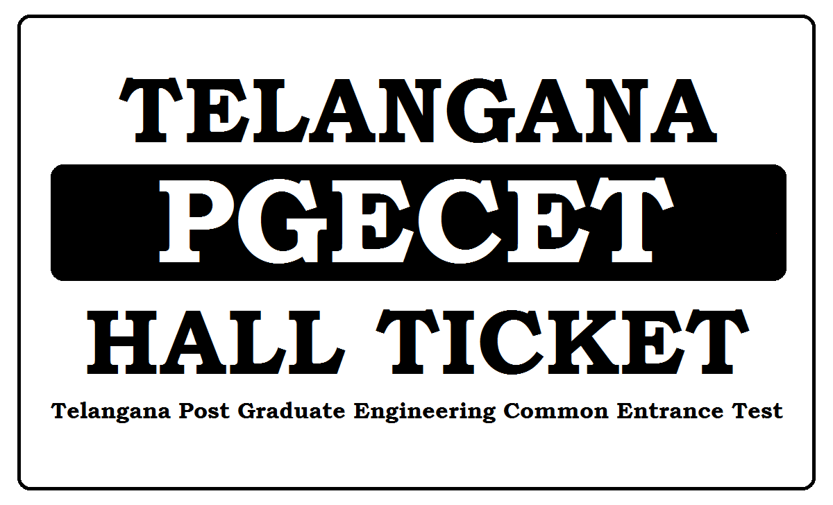 TS PGECET Hall Ticket 2021